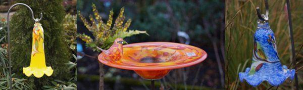 Winterfeste Glasdekoration für den Garten